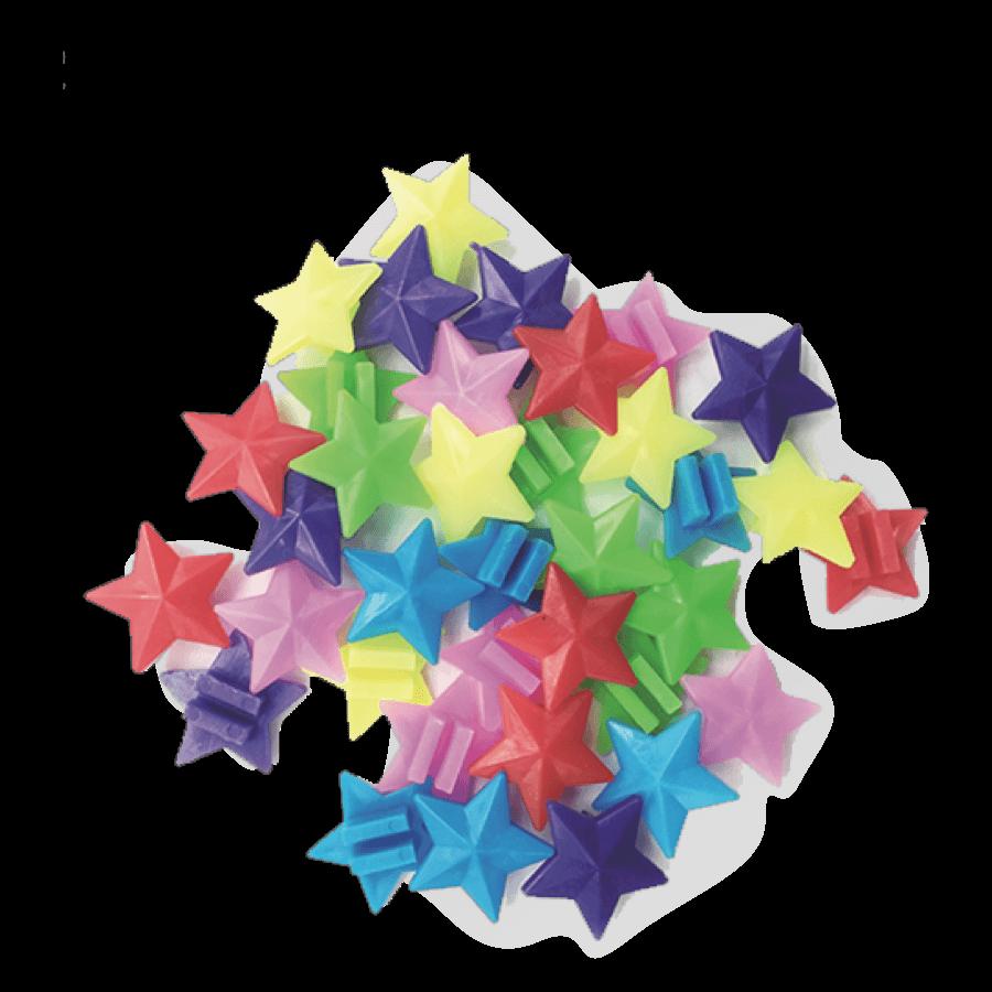 30 pcs Colorful Plastic Kids Bike Wheel Spoke Decoration Star Shape For Cycling