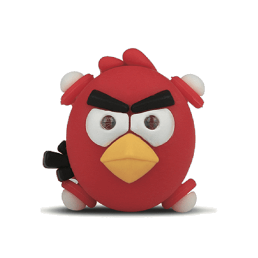 Silicone Angry Bird Bike Light Red/Blue/Green/White/ Black/Yellow To Choose
