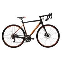 OEM 700C Road Bike Black With Orange Alloy Frame Road Bicycle 11-32T Freewheel