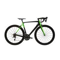OEM Green Road Bike 700C Carbon Frame Road Bicycle Super Soft Forming Saddle
