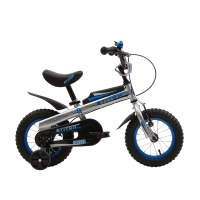 "OEM Blue 12"" Steel Frame Kids Bike With Training Wheels Kids Bicycle For 2-4 Years Preschool Boy"