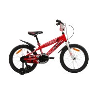 "OEM Red 18"" Kids Bicycle Steel Frame Kids Bike For 5-9 Years Old Boy"