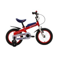 "OEM Red 14"" Steel Frame Kids Bike With Training Wheels Kids Bicycle For 3-5 Years Preschool Boy"