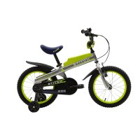 "OEM Green 16"" Steel Frame Kids Bike Full Chain Guard Kids Bicycle With Training Wheels For 4-7 Years Old Boy"