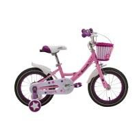 "OEM 14"" Pink Steel Frame Kids Bike Full Chain Guard Children Bicycle With Training Wheels For 3-5 Years Preschool Girl"