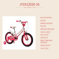 "OEM 16"" Steel Frame Kids Bicycle White With Pink Kids Bike For 4-7 Years Gril"