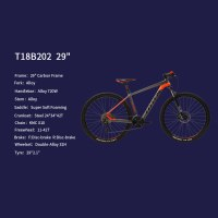 "OEM MTB Bicycle 29"" Carbon Frame Mountain Bike Super Soft Forming Saddle"