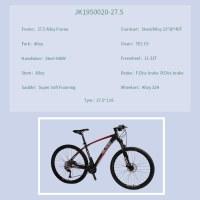 "OEM 27.5"" MTB Bike Black With Red Alloy Frame Mountain Bicycle 11-32T Freewheel"
