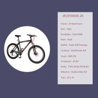 "OEM 26"" Black City Bike Steel Frame City Bicycle Double-Alloy 32H Wheelset"
