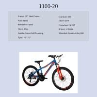 "OEM 20"" MTB Bike Blue Steel Frame MTB Bicycle Super Soft Foaming Saddle"