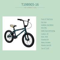 "OEM 16"" Steel Frame Kids Bicycle Blue Kids Bike For 4-7 Years Preschool Children"