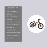 """OEM 20"""" Crusier Bike Black With Red Steel Frame Crusier Bicycle Double-Alloy 36H Wheelset"""