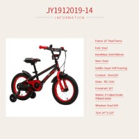 "OEM 14"" Steel Frame Kids Bicycle Red Kids Bike For 3-5 Years Preschool Children"