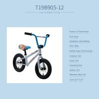 "OEM 12"" Kids Balance Bike Grey Steel Frame Kids Bicycle For 2-4 Years Preschool Children"