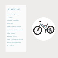 "OEM 26"" MTB Bike Blue Steel Frame Mountain Bicycle 14-28T Freewheel"