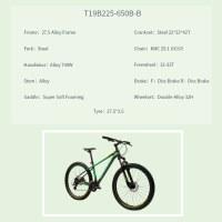 "OEM 27.5"" MTB Bike Green Alloy Frame Mountain Bicycle Double-Alloy 32H Wheelset"