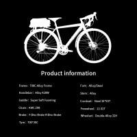 OEM 700C Black Trekking Bike Alloy Frame Trekking Bicycle Double-Alloy 32H Wheelset