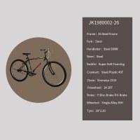 """OEM 26""""City Bike Steel Frame City Bicycle Freewheel 14-28T"""