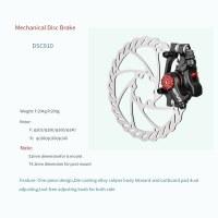Alloy Caliper Body Designed Mechanical Disc Brake 1 Piece For Bike/E-Bike