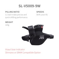 L-TWOO FB/FRB F5 2x9 18 Shift Lever 9 Speed Visaul Gear Indicator Shimano or SRAM Compatible Option