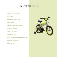 """OEM Green 16"""" Steel Frame Kids Bike Full Chain Guard Kids Bicycle With Training Wheels For 4-7 Years Old Boy"""