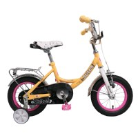 OEM Hello Cat 12 Inch Hi-Ten Steel Children Frame Kids Bike For 2 To 4 Years Preschool Boys And Girls
