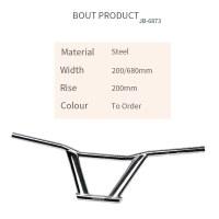 Custom Steel Bicycle Handlebar Width 200/680mm