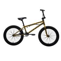 "OEM 20"" BMX Bike Red/Yellow Steel Frame BMX Bicycle 9T Freewheel"