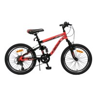OEM Quark 20 Inch Kids Bike Of Hi-Ten Sus Steel Frame Red/ Yellow/Green For 8-12 Years Preschool Girl