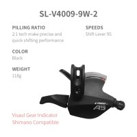 L-TWOO MTB A6  3x9 27S Right Shift Lever 9 Speed Visaul Gear Indicator and Shimano Compatible