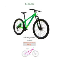 "OEM Green 27.5"" MTB Bicycle Alloy Frame Mountain Bike  Freewheel 14-28T"