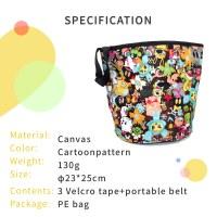 Kids Bike Handlebar Cloth Cartoon Basket Canvas Material