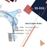 Light Alloy Caliper Brake Center Bolt F/51, R/32 Brake Shoes UP & Dowm: 75-95