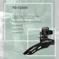 Top&Down Pull Top Swing Front Derailleur 40/42/48T Top Gear For Triple Chainwheel