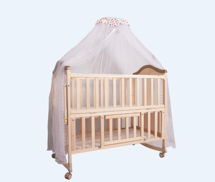 Wooden baby bed          Unfold Size: 106*64*98cm