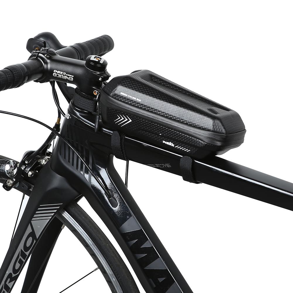 Elegant   Bicycle Frame Bag, Waterproof Bike Top Tube Bag Front Bike Bag  Large Capacity