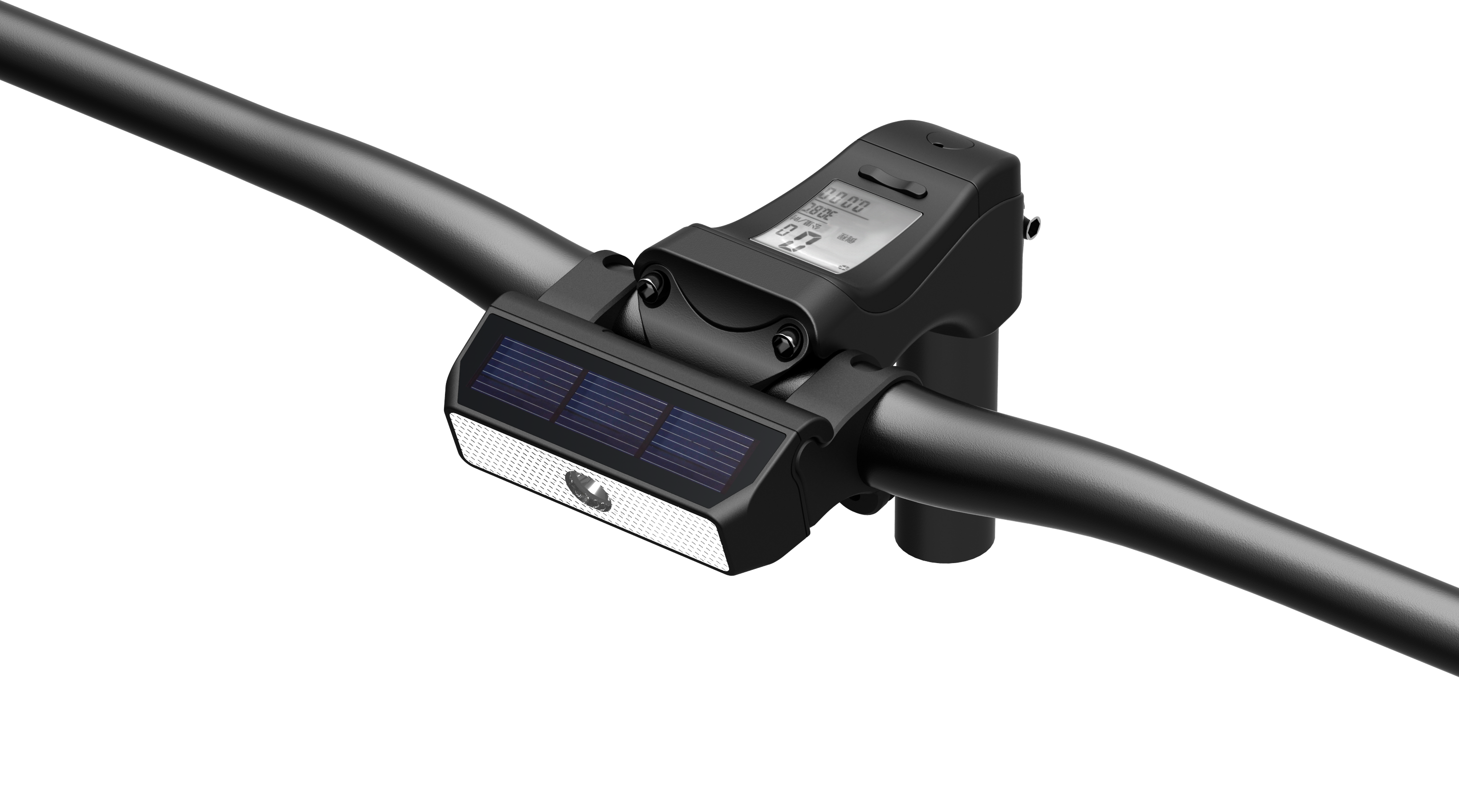 ABS Solar energy front light of bicycle