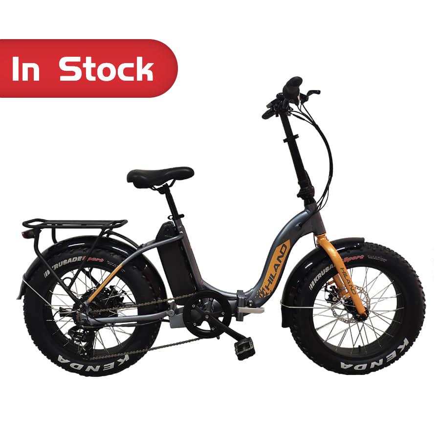 "Bike Manufacturer OEM NEW High quality 20"" HILAND Folding SNOW E-bike Eletric Bicycle"