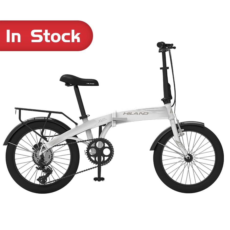 "Bicycle Manufacturers OEM NEW High quality 20"" HILAND Half Moon Folding E-bike Eletric Bicycle White/Pink"