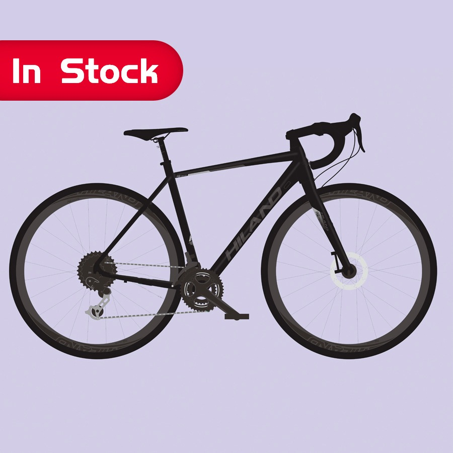 Chinese bike manufacturer 2020 NEW High quality 700C HILAND Road Bike Black Alloy Frame Road Bicycle